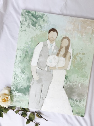 your favorite wedding photo brought to life on canvas